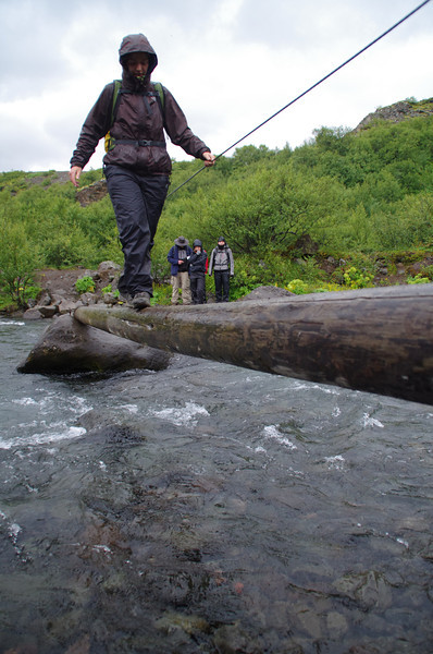 Crossing of the Glymur river/ Western territories