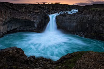 Aldeyjarfoss at sunrise