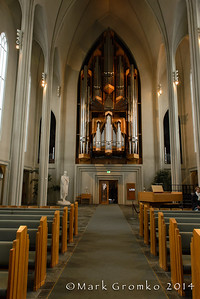 Turning around, you see the magnificent pipe organ at the back of the church.