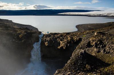 Draining Lake, Iceland