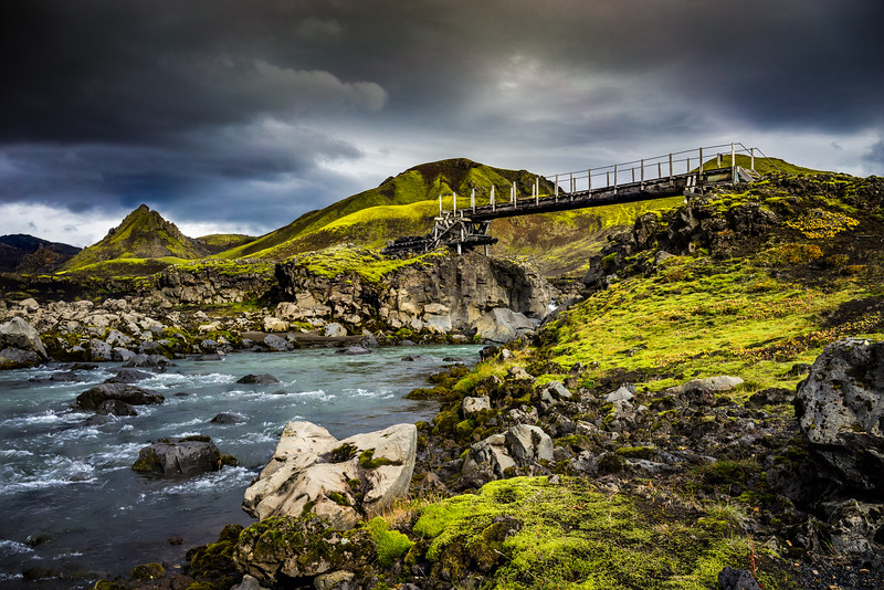 A bridge to the adventure Iceland