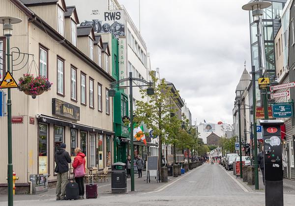 Laugavegur (main shopping street) in Reykjavik