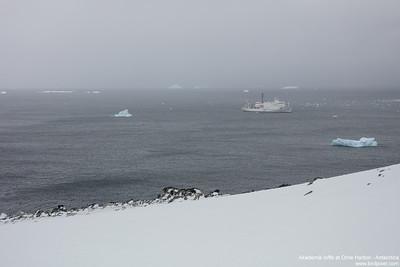 Akademik Ioffe at Orne Harbor - Antarctica