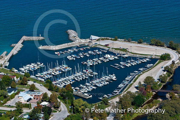 Thornbury Harbour from the air on Georgian Bay. A gorgeous picture.