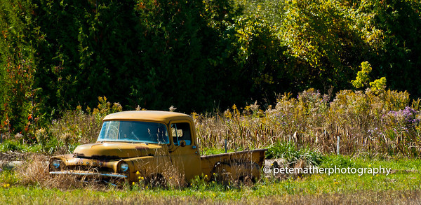 The Yellow truck just out side Thornbury going to Meaford
