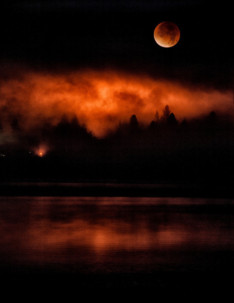 Lunar Eclipse over Payette Lake, McCall, Idaho