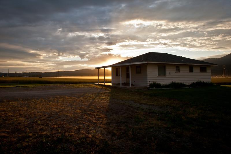 Field Office Sunset