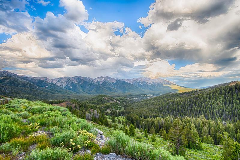 Sunset Galena Summit, Idaho.  June 2013