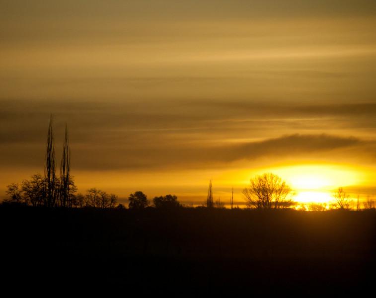 Hiway Sunrise.  Jerome, Id