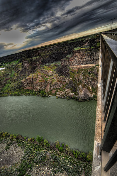 Vertigo over Perrine Bridge in Twin Falls, Idaho