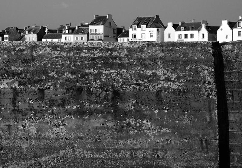 maisons sur la digue