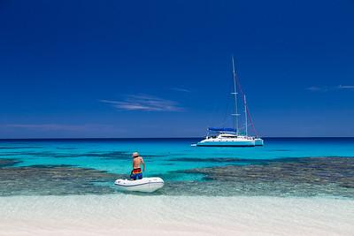 Catamaran ilots du sud avec papa & Marie