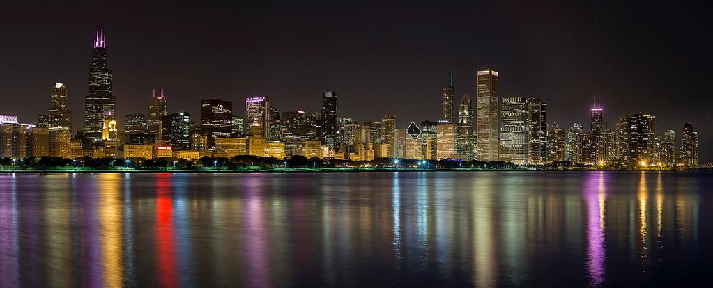 Chicago Skyline from Adler Planetarium - Oct. 2014