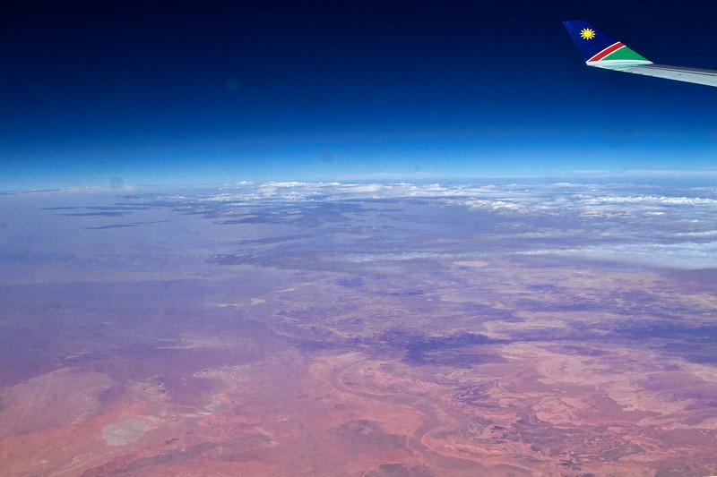 Flying over the Sahara desert
