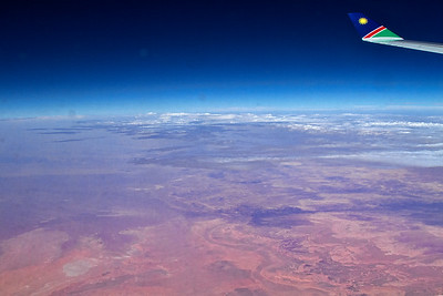 Flying over the Sahara desert