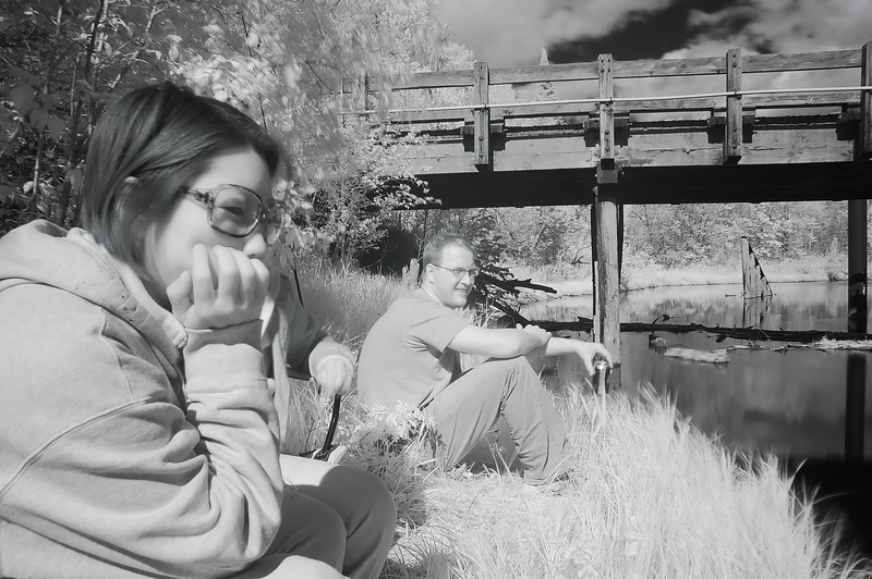 Becky and Lucus in Infrared