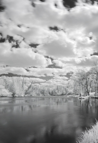 ig Fork River near Effie, MN in infrared
