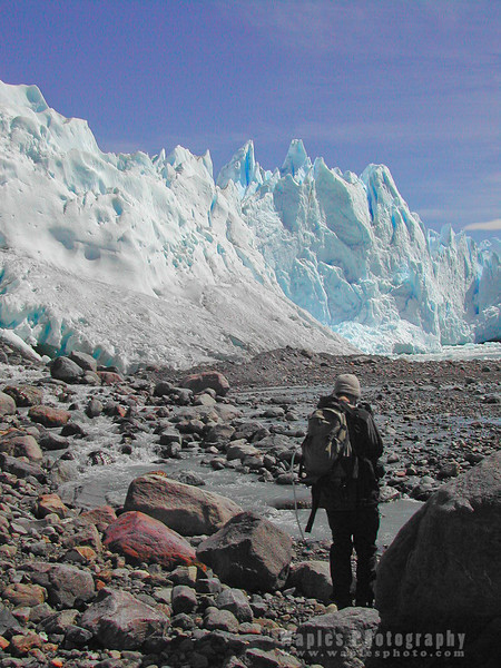 Hiking Toward Perito Merino Glacier