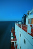 Sailing through the English Channel.