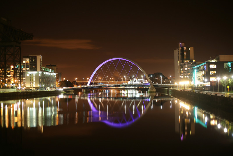 "The ""Squinty"" bridge on the River Clyde in Glasgow.<br /> 03-10-2010"