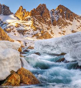 Three Peaks, Wind River Range, Sublette County, WY 2010 © Edward D Sherline