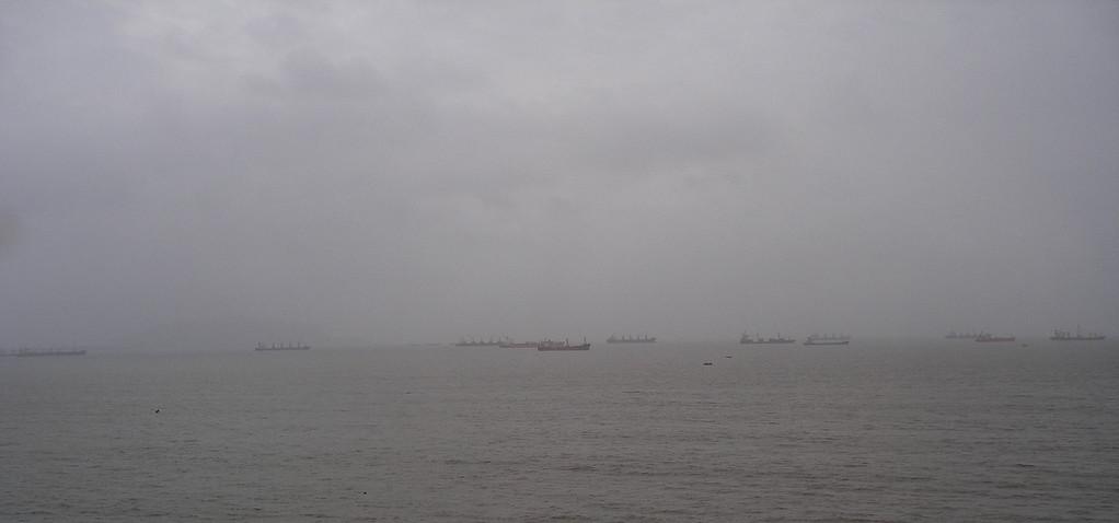 Arabian Sea boat traffic.
