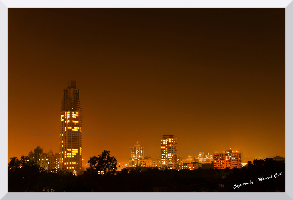 Mulund @ Night (View from my room)