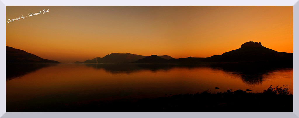 Malshej Ghat: Pimpalgaon Joge Lake - Sunset time (Panorama)