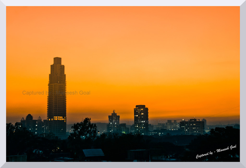 Another winter sunset captured from my house :)