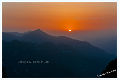 Sunset from Lal Tibba @ Landour