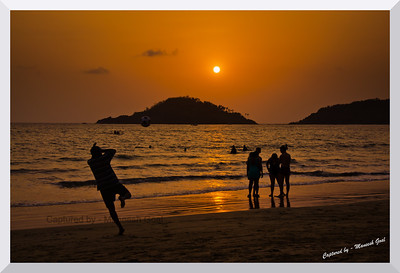 Reaching out - Palolem Beach at Sunset time! (Kankon Island in the background)