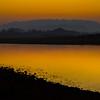 Sunset Red Silhouette Along River Kaziranga National Park, Assam, North-Eastern India