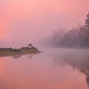 Early Morning Pinks On River Kaziranga National Park, Assam, North-Eastern India