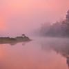 Early Morning Pinks On River Kaziranga National Park, Assam, North-Eastern India
