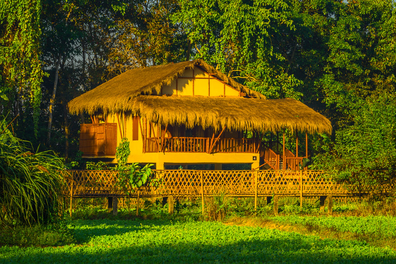 The Stunning Huts At The Diphlu River Lodge Kaziranga National Park, Assam, North-Eastern India