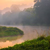 Early Morning Color At Turn Of River Kaziranga National Park, Assam, North-Eastern India