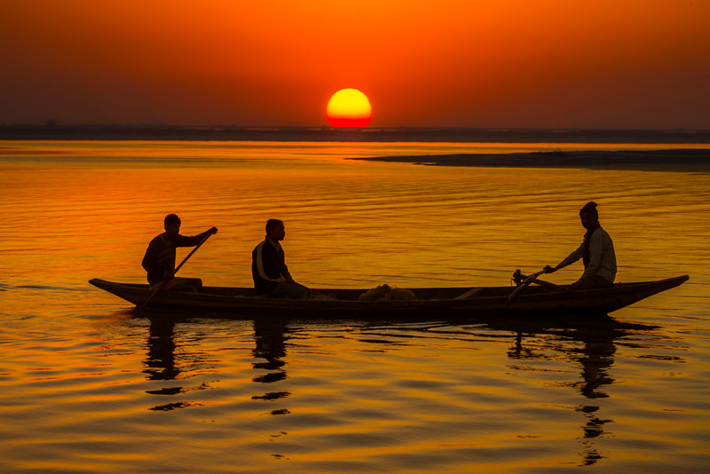 Sailin Across A Mystery Sunset Kaziranga National Park, Assam, North-Eastern India