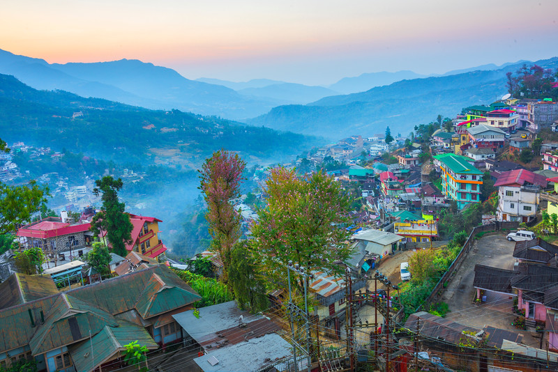 Twilight Color Sets In Over The Valley Of Kohima - Kohima, North-Eastern India