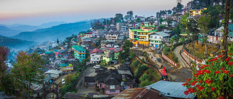 Twilight Descends On The Valleys Of Kohima - Kohima, North-Eastern India