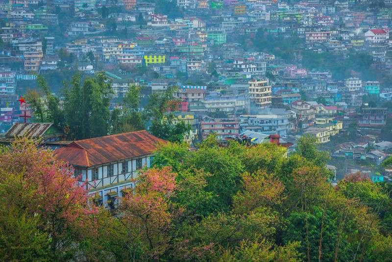 Overlooking The Valley Of Kohima At Dusk - Kohima, North-Eastern India
