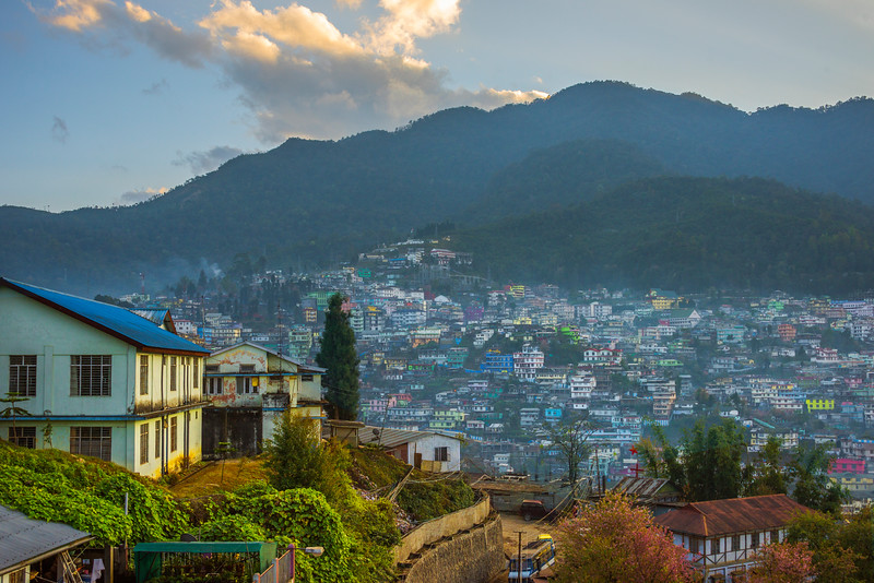 Color Buildings On Hills Of Kohima During Sunset - Kohima, North-Eastern India