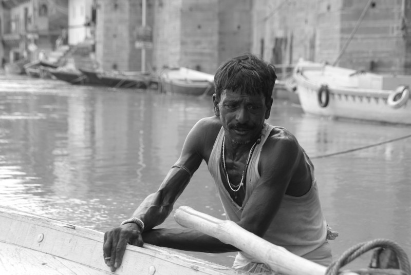 Pritram, we shared a bag of Ganga water and life advice
