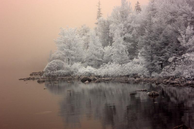 Jordan Pond in Mist, Acadia