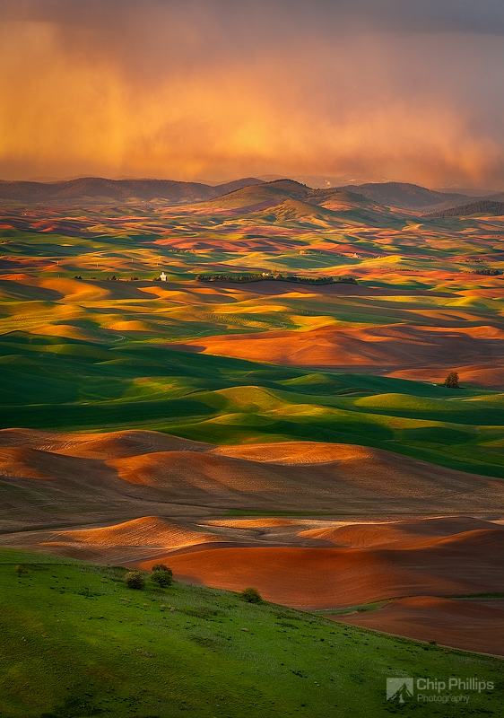 """A storm Brewing Over the Palouse""