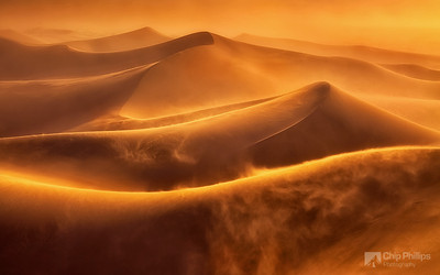 """Death Valley Dune Storm""  I was caught in the middle of a pretty intense wind storm in the Mesquite Dunes of Death Valley. I shot a few images hand-held before taking cover and this was one of them."