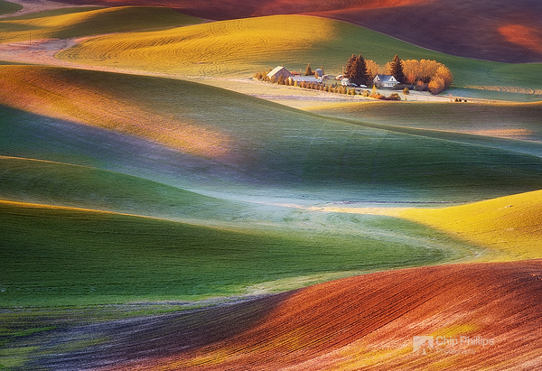 """""""Frosty Morning Palouse""""  Early spring sunrise in the Palouse Hills of Washington State."""