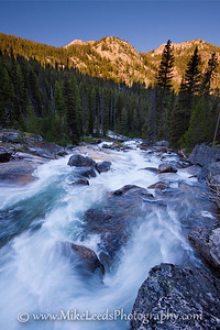 """Fern Falls"" on the Upper South Fork Payette River, Sawtooth Mountains, Idaho."