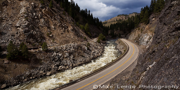 Juicer Rapid on an April afternoon. North Fork Payette