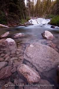 "Bottom of ""Fern Falls"" on the Upper South Fork Payette River. Sawtooth Mountains, Idaho."