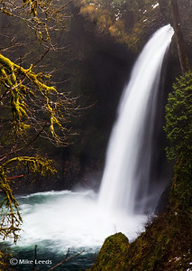 Metlako Falls on a cold day in March, Eagle Creek, Oregon.
